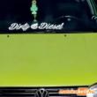 Dirty Diesel szélvédő matrica felirat - VW Golf 3
