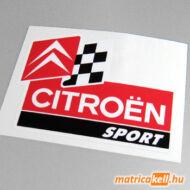Citroen sport logo színes matrica