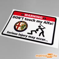 Don't touch my Alfa Romeo matrica