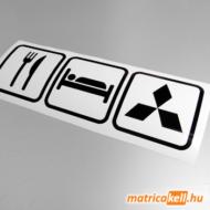 Eat sleep Mitsubishi matrica (ikonok)