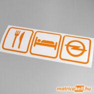 Eat sleep Opel matrica (ikonok)