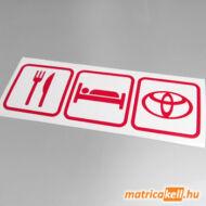 Eat sleep Toyota matrica (ikonok)