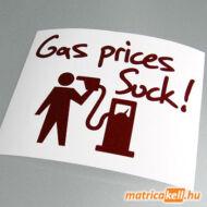 Gas prices suck! matrica