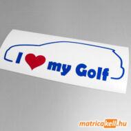 I love my Volkswagen Golf 5 matrica