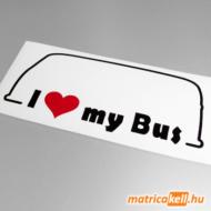 I love my Volkswagen Transporter T1 bus matrica