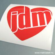 JDM szív matrica