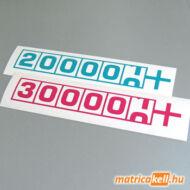 Kilométer számláló matrica