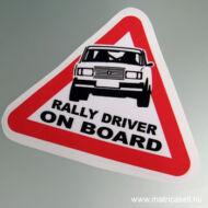 Lada Rally driver on board matrica