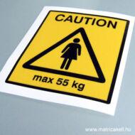 Max. 55 kg matrica