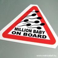 Million Baby on board! matrica