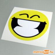 Nevető smiley matrica