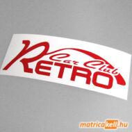 Retro Car Club matrica