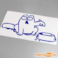 Simon's cat matrica kajás tállal