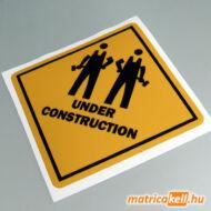 Under Construction matrica munkásokkal