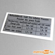 VW Golf I. - Jetta I. keréknyomás matrica