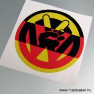 VW peace trikolor matrica