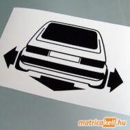Down and Out VW Golf 1 matrica (nagy lámpás)