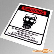 Warning Diesel gázmaszkos matrica