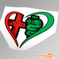 Alfa Romeo szív színes matrica
