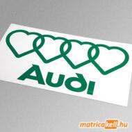 Audi logo 4 szív matrica
