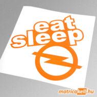 eat sleep Opel matrica