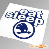 eat sleep Skoda matrica