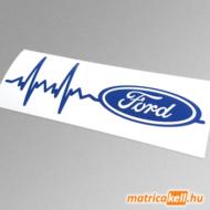 Ford szívdobbanás matrica (pulzus, ekg)