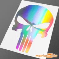 Punisher koponya hologramos matrica