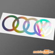 Audi-Volkswagen konszern hologramos matrica