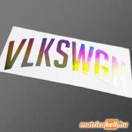 Volkswagen íves felirat hologramos matrica