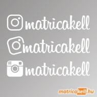 Instagram név matrica (Insta betűvel, 4db)