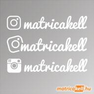 Instagram név matrica (írott betűvel, 4db)