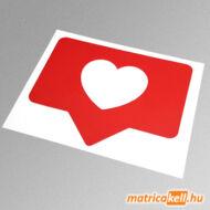 Instagram like szív matrica