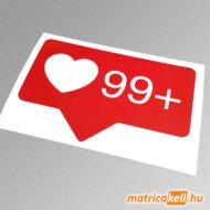 Instagram like szív 99+ matrica