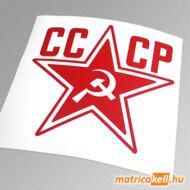 CCCP csillag matrica