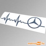 Mercedes szívdobbanás matrica (pulzus, ekg)