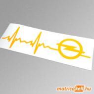 Opel szívdobbanás matrica (pulzus, ekg)