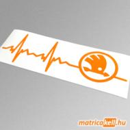 Skoda szívdobbanás matrica (pulzus, ekg)