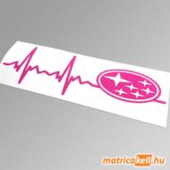 Subaru szívdobbanás matrica (pulzus, ekg)
