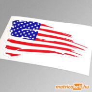 Amerikai USA zászló matrica