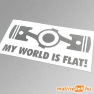 My World is flat matrica