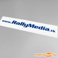 RallyMedia.tk felirat matrica