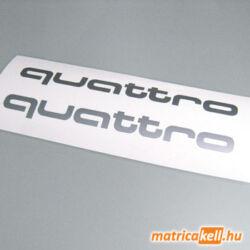 Audi quattro felirat matrica