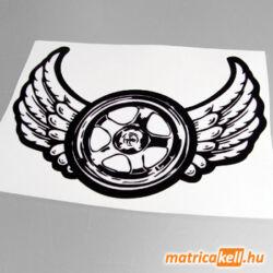 Black gun's garage logo matrica
