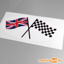British Racer rajtzászló matrica