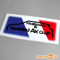 Citroen AX Club Hungary matrica
