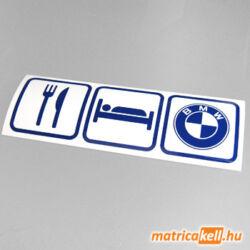 Eat sleep BMW matrica (ikonok)