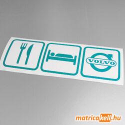 Eat sleep Volvo matrica (ikonok)