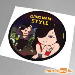 Gangnam style színes matrica