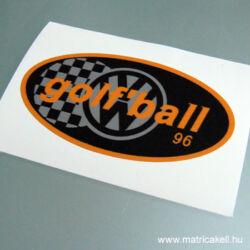 Golfball Volkswagen Rally matrica